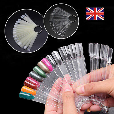 50X Nail Polish Swatches Art Tip Gel Fan Board Display Color card template tools