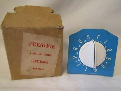 Vintage Prestige 1 Hour Timer Blue - Smiths Mechanism - Kitchenalia