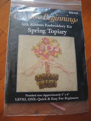 Creative Beginnings Silk Ribbon Embroidery Kit Spring Topiary RK115 FREE POSTAGE