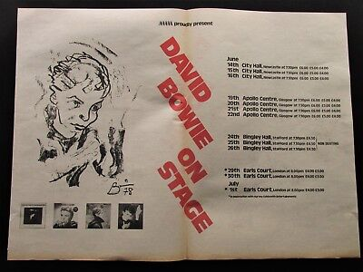 "DAVID BOWIE ON STAGE UK 1978 DOUBLE PAGE ADVERT 22"" x 16"" MELODY MAKER HEROES"