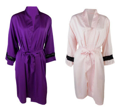 Marks /& Spencer Womens Satin Robe New Silky M/&S Spotty Dressing Gown Wrap /& Belt
