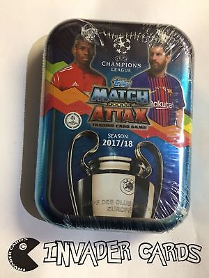Topps Match Attax UEFA Champions League Trading Cards Collector Tins 2017/18