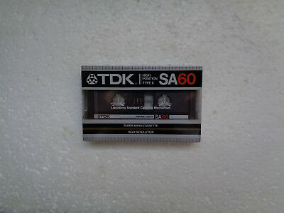 Vintage Audio Cassette TDK SA 60 * Rare Europe Model 1983 *