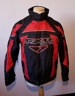 Mens FXR Pro Racing Titamium Jacket w/ Removable Lining S Black & Red Snocross