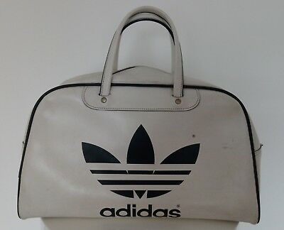 Authentic Vintage Original 1970s Adidas Peter Black Keighley Holdall Sports  Bag 98112e79d6
