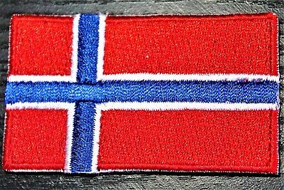 NORWAY Norwegian Country Flag Embroidered PATCH Badge *NEW*