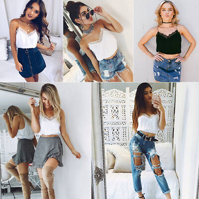2 Colors Women Tops Lace Harness Sexy Exposed Navel Summer V Neck Short Blouses