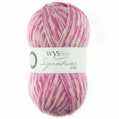 West Yorkshire Spinners Signature 4 Ply Yarn Wool 100g - Foxglove (802)
