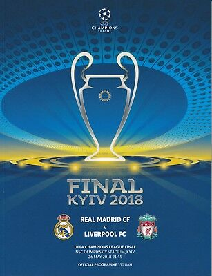 UEFA CHAMPIONS LEAGUE FINAL 2018 Real Madrid v Liverpool -  with TWO posters!