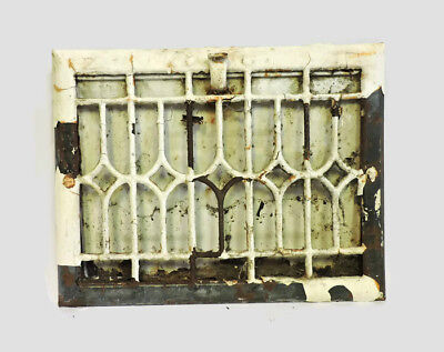 "ANTIQUE METAL HEATING GRATE REGISTER VENT WALL ORNATE 13.75 X 10.75"" d"