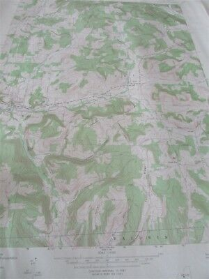 """22/"""" X 27/"""" New York State Quadrangle Topographical Map of Ancram 1948 M-1"""