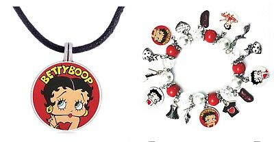 Betty Boop charm Bracelet And Necklace