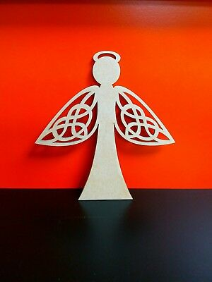 5 x Mdf Plain Celtic Angel 10cm x 9.5cm WR1001