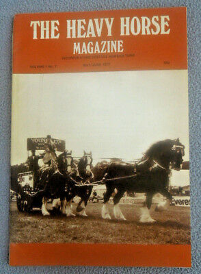 Vintage May 1977 THE HEAVY HORSE Magazine ~ Vol 1 #7 ~ SUFFOLK SHIRE DRAUGHT ETC