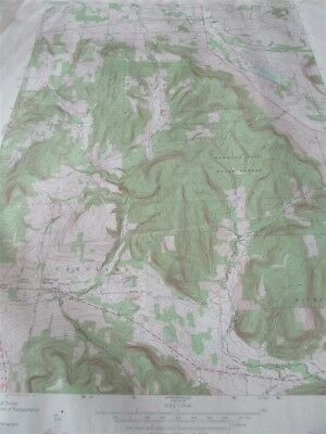 "22"" X 27"" New York State Quadrangle Topographical Map of Dryden 1969 M-10"