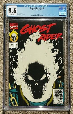 Ghost Rider #15 – Glow-In-The-Dark Cover - Marvel Comics 1991 – CGC 9.6 NM+