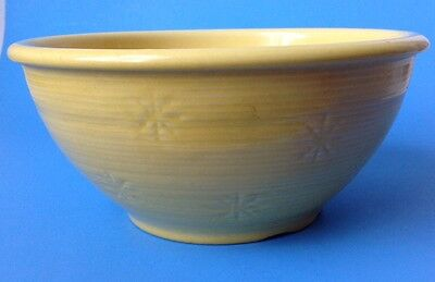 Vintage Shawnee Snowflake Yellow Mixing Bowl USA Pottery 9""