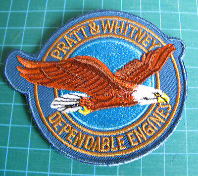 "Pratt & Whitney Aircraft  3 1/2"" X 3"" Embroidered Patch-Collectors Aviation"