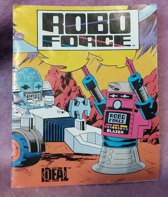 Vintage Robo-Force Mini Comic Book Pamphlet Insert - 1984 CBS / Ideal