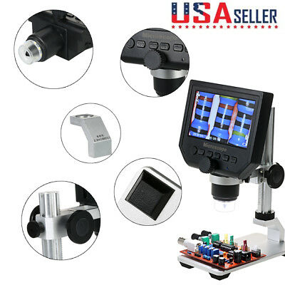 G600 Portable Digital HD Microscope Magnification Continuous Magnifier US Stock