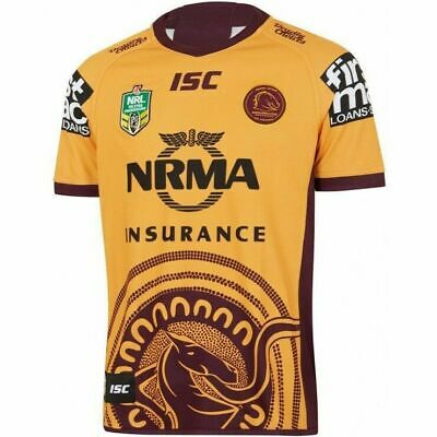 Brisbane Broncos NRL 2018 ISC Indigenous Jersey Mens & Kids Sizes! IN STOCK!