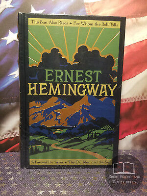 NEW SEALED Ernest Hemingway: Four Novels - Bonded Leather Edition