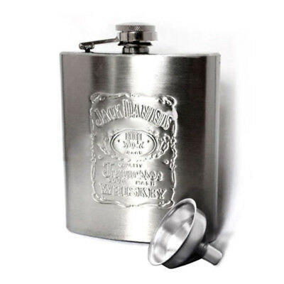 7OZ Portable Stainless Steel Hip Flask W/ Funnel Wine Whisky Alcohol Drinkware
