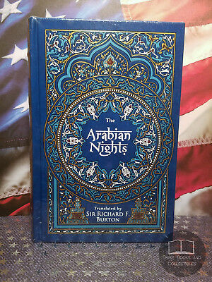 NEW SEALED The Arabian Nights with Full Color Illustrations - Bonded Leather Ed