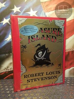 NEW SEALED Treasure Island by Robert L Stevenson Bonded Leather Collectible Ed