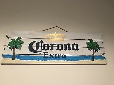 Corona Extra Beach Wood Sign Man Cave Bar Sign