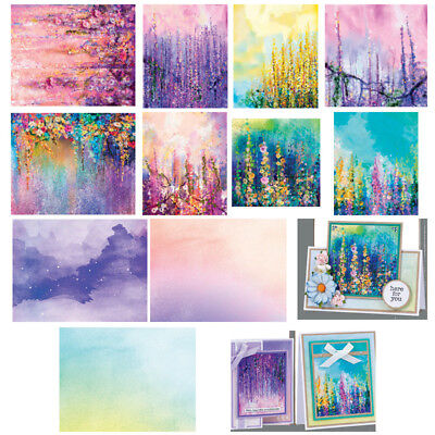 4Styles 14pcs Scrapbooking Paper Handmade DIY Photo Album Background Craft Cards