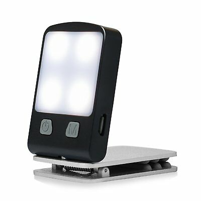 Rechargeable Book Light, Portable Clip on Book Reading Lights with Warm Mighty B
