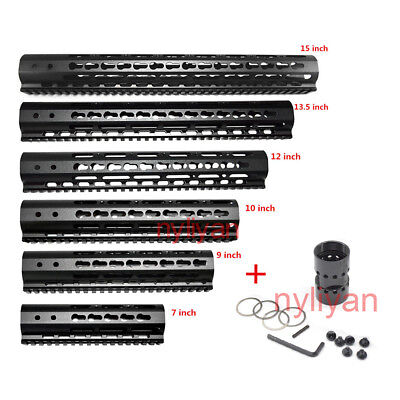 "US 7""/9""/10""/15"" Ultra Free Float KEYMOD Quad Rail Slim Handguard For Rifle"