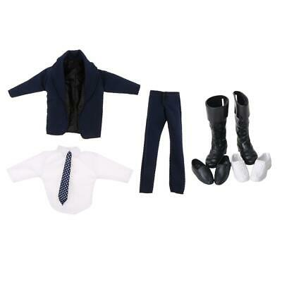 1Set Doll Formal Suit Shirt Trousers Shoes Outfit for Ken Prince Doll
