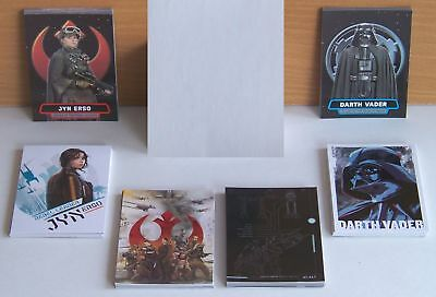 Topps Star Wars Rogue One (series 1) 6 set insert card lot. 50 cards