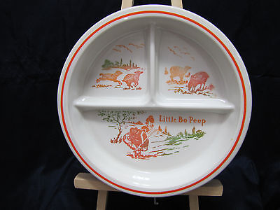 Vintage Little Bo Peep Divided Plate Baby Food Dish