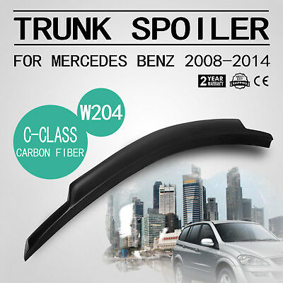 Carbon Fiber Spoiler For Mercedes Benz 2008-2014 Glossy Black Vehicle