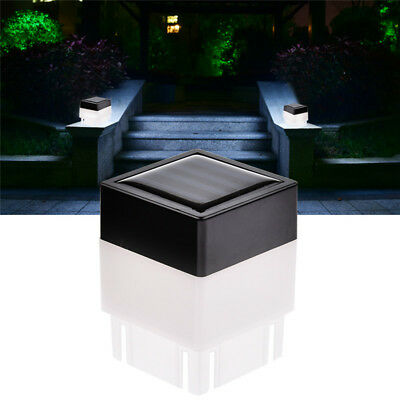 Solar Power Powered Outdoor Garden Light Gutter Fence Lights LED Wall Bulb Lamp