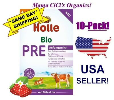 ***FREE EXPEDITED SHIP!*** 10 BOXES Holle Stage PRE Organic Baby Infant Formula