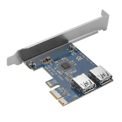 PCI-E to Dual USB 3.0 Port Expansion Card Adapter Card for Mining Machine AC913