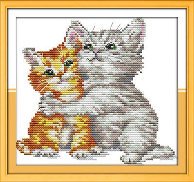 Joy Sunday Elk Counted Cross Stitch Kit 14 Count 17in 15in Embroidery Fabric