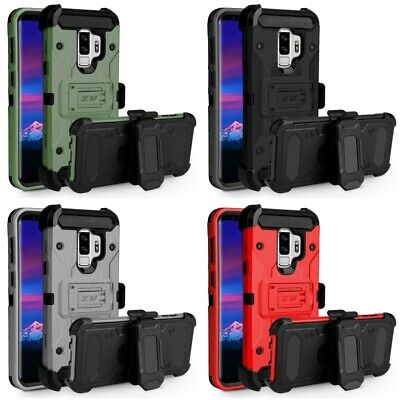 Samsung Galaxy S9 Plus Tough Armor Case Defender Holster Heavy Duty Cover