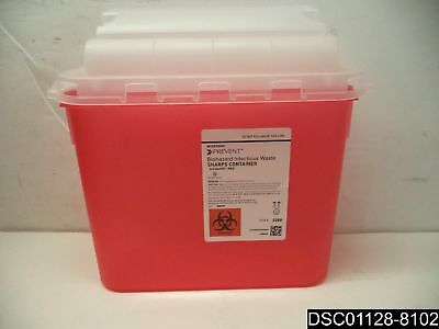 Qty= 20: McKesson Biohazard Infectious Waste Sharps Containers, 5.4 Quart #2269