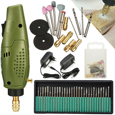 18000RPM Electric Engraving Pen Stone Jewelry Wood Care Tool +30Pcs Drill Set