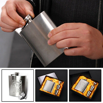 1x7OZ Portable Stainless Steel Hip Flask Wine Tube Whisky Alcohol Drinkware Tool