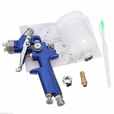 Mini LVLP Gravity Feed Air Spray Paint Gun Head With 1.4mm Nozzle 100ml Cup..