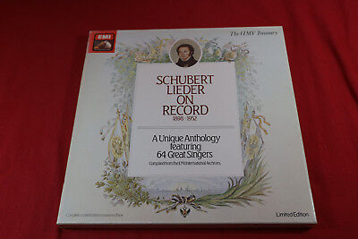 Schubert  LIEDER ON RECORD 1898-1952 - EMI UK RLS 766 - 8 LP-Box near mint