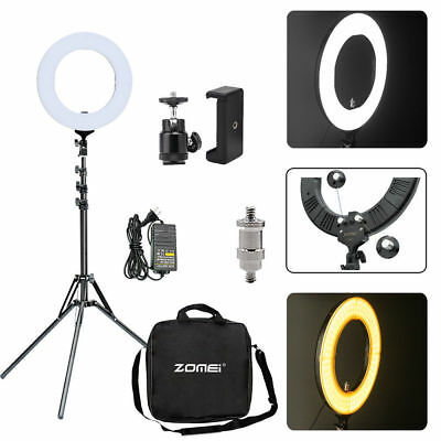 "14"" Selfie Stand LED Ring Light Photo Photography For Cell Phone Camera DIY"