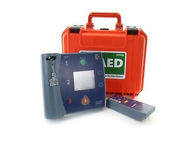 Philips Laerdal FR2+ Heartstart AED Defib w/ Good Battery + New Waterproof Case