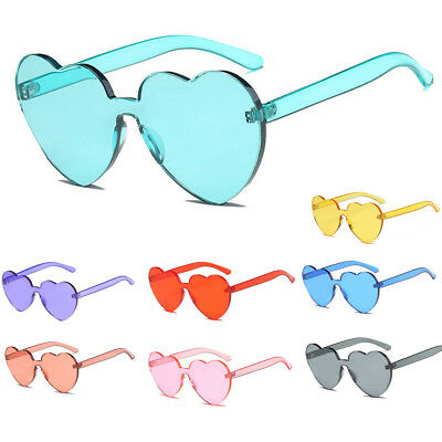 Womens Sunglasses Cute 2018 Large Heart Shaped Candy Oversized Clear Lens